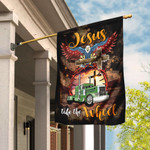 Trucker, Jesus Take The Wheel Flag DBX1574F