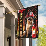 German Shepherd Firefighter Back The Red Flag DBX1870F
