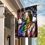 LGBT Christian Cross America U.S. Flag THN2066F1