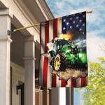 Tractor Farmer American Flag THB2370F1