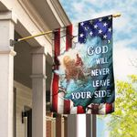 God Will Never Leave Your Side American US Flag TRL72F