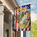 Jesus Is My Savior Fishing Is My Therapy Flag DBX1588F