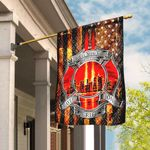 9-11-01 Never Forget Firefighter Flag DBX1834F