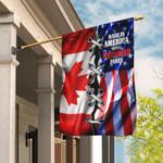 Canadian American Flag THH2338F