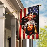 Jesus Saved My Life American Flag THB2351F