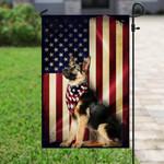 German Shepherd American Flag PSL196FTW