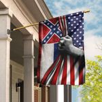 Mississippi And American Flag LHA839F