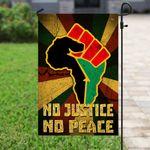 No Justice No Peace Proud Africa Flag PSL35Fv5