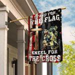 Veteran Stand For The Flag Kneel For The Cross Flag THN2279F