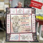 Personalized Elephant Blanket OCT1801 82O34