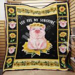 Pig Sunflower M2103 81O38 Blanket