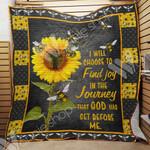 Bee Sunflower Blanket AU2401 81O31