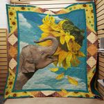 Elephant Sunflower F1301 85O39 Blanket