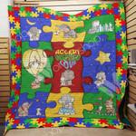 Elephant Autism M1101 83O33 Blanket