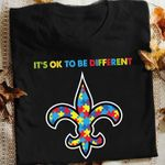 New Orleans Saints Autism Its Okie To Be Different t shirt hoodie sweater