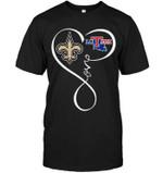New Orleans Saints Louisiana Tech Bulldogs Love Heart shirt hoodie sweater