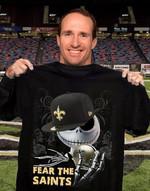 New Orleans Saints Fear The Saints Jack Skellington Halloween t shirt hoodie sweater