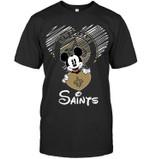 Mickey Loves New Orleans Saints Fan t shirt hoodie sweater