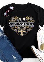 I Am A New Orleans Saints Aholic Heart Shaped t shirt hoodie sweater