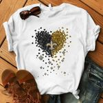 New Orleans Saints Black Yellow Tiny Hearts t shirt hoodie sweater