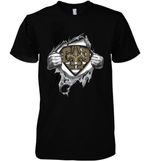 Superman New Orleans Saints Dad Ripped t shirt hoodie sweater