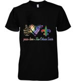 Peace Love New Orleans Saints Lgbt Pride Supporter t shirt hoodie sweater