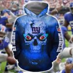 New York Giants Skull On Fire For Giants Fan t shirt hoodie sweater