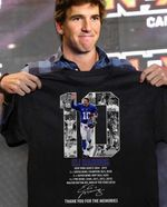 New York Giants Eli Manning Thank You For The Memories t shirt hoodie sweater