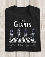 The New York Giants Abbey Road Lawrence Mark Phil Eli Signatures t shirt hoodie sweater
