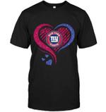 New York Giants Heart Glittering t shirt hoodie sweater