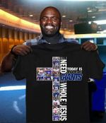 All i need today is little bit of new york giants and whole lot of jesus cross for fan t shirt hoodie sweater
