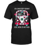On Dark Desert High Way Cool Wind In My Hair New York Jets Hippie Car t shirt hoodie sweater