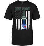 New York New York Jets New York Rangers American Flag t shirt hoodie sweater