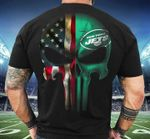 American Flag New York Jets Skull t shirt hoodie sweater