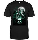 New York Jets Halloween Freddy Krueger Jason Michael Myers Fan White t shirt hoodie sweater