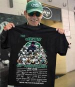 The new york jets 60th anniversary coach and players signed for fan t shirt hoodie sweater