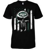 New York Jets Punisher Skull Us Flag For Fan t shirt hoodie sweater