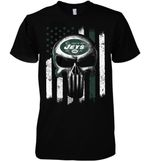 New York Jets Punisher Skull Us Flag For Fan t shirt hoodie sweater
