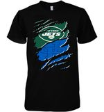 New York Jets With Buffalo Bulls Ripped t shirt hoodie sweater