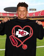 Kansas City Chiefs Heart shirt hoodie sweater