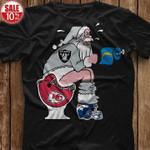 Oakland Raiders Santa Sit On Kansas City Chiefs Toilet Step On Denver Broncos Helmet shirt hoodie sweater