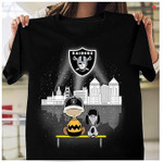 Oakland Raiders Snoopy Night City Light shirt hoodie sweater