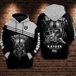 Oakland Raiders Black Sunday Skull t shirt hoodie sweater