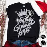Oakland Raiders Crown Haters Gonna Hate Glitter Pattern t shirt hoodie sweater