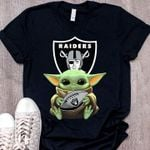 Baby Yoda Loves Oakland Raiders The Mandalorian Fan - 1 t shirt hoodie sweater