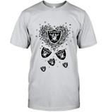 Oakland Raiders Tiny Hearts Shape t shirt hoodie sweater