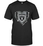 Oakland Raiders Heart Glitter Pattern Fan Simpson t shirt hoodie sweater