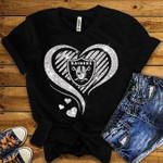 Oakland Raiders Heart Glitter Pattern t shirt hoodie sweater