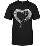 Oakland Raiders Glitter Diamond Heart shirt hoodie sweater