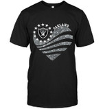 Oakland Raiders Glitter Heart shirt hoodie sweater